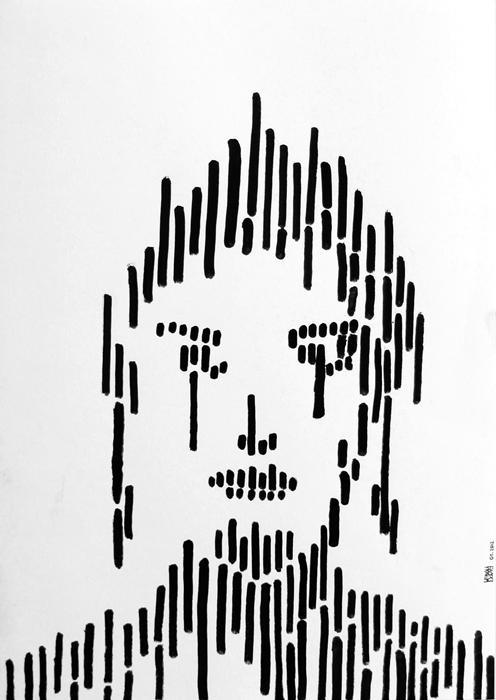 Dessin Visage Noir Et Blanc dessins noir et blanc encre noire, peinture satirique critique